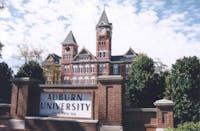 Auburn University sign in front of Samford hall