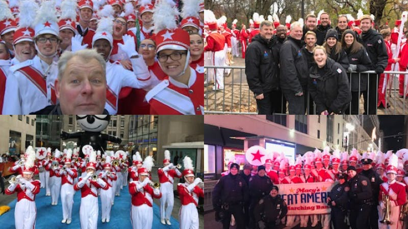Auburn Director of Bands Ric Good at Macy's Thanksgiving Day Parade.