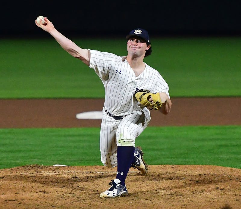 Tanner Burns (32) Auburn Baseball vs Cincinnati on Friday, March 1, 2019 in Auburn, Ala. Anthony Hall/Auburn Athletics