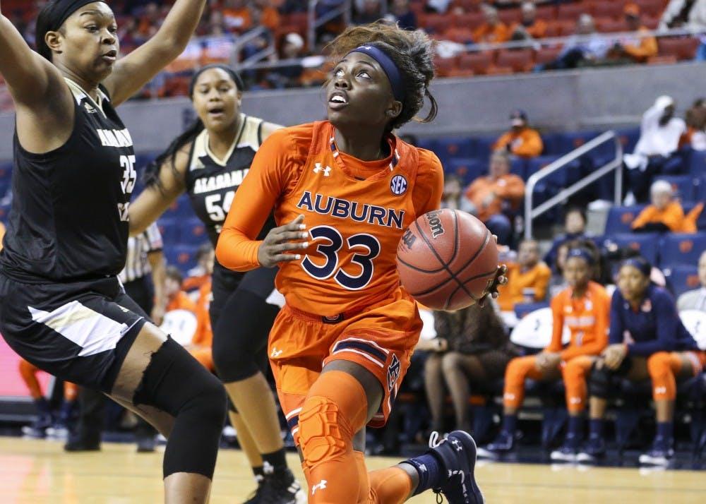 Janiah McKay (33) Women's Basketball vs Alabama State on Saturday, Dec. 29, 2018, in Auburn, Ala.