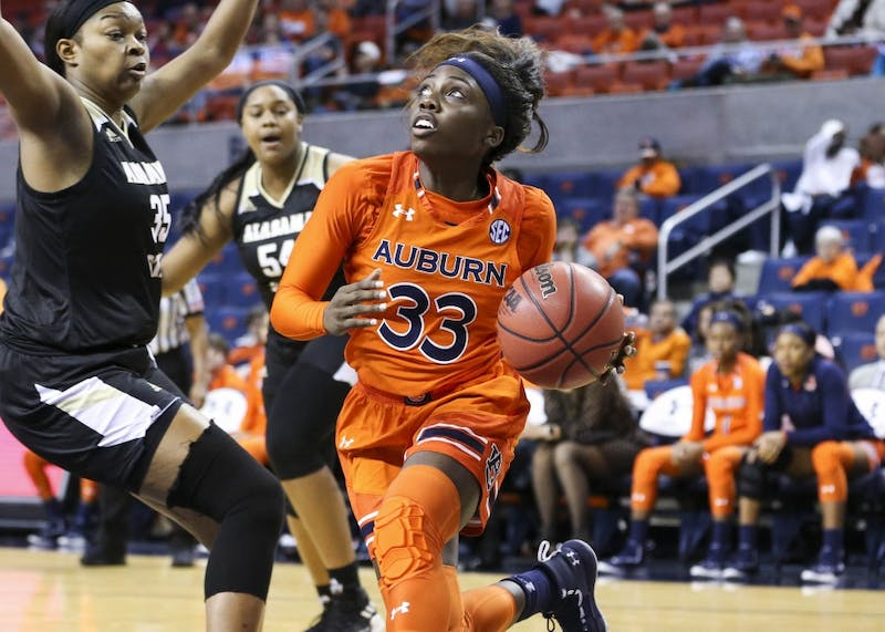 Janiah McKay (33) Women's Basketball vs Alabama State on Saturday, Dec. 29, 2018, in Auburn, Ala.