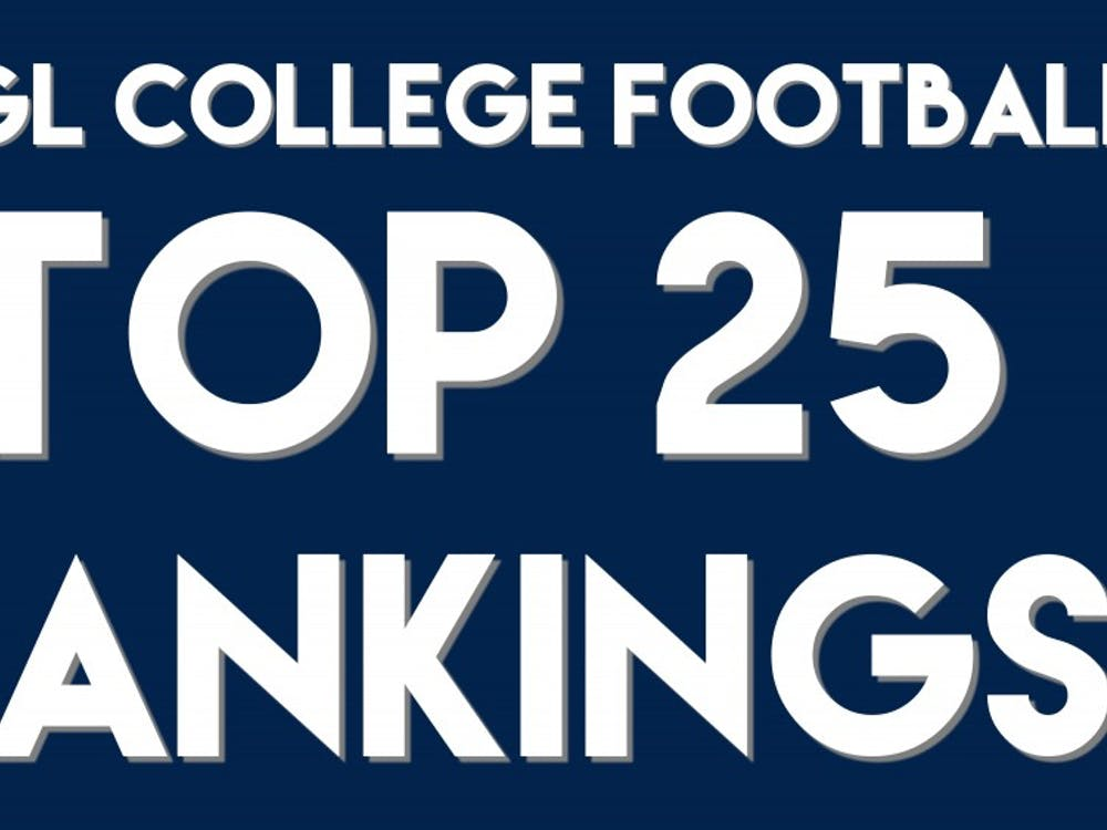 WEGL College Football Top 25 Rankings
