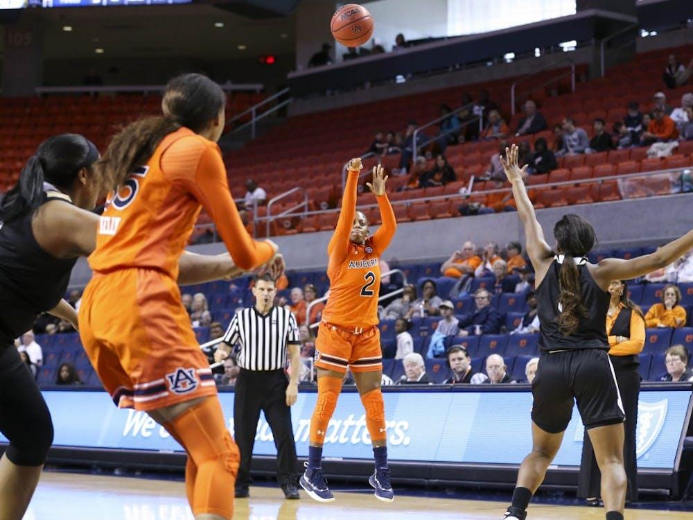 Brooke Moore (2) Women's Basketball vs Alabama State on Saturday, Dec. 29, 2018, in Auburn, Ala.
