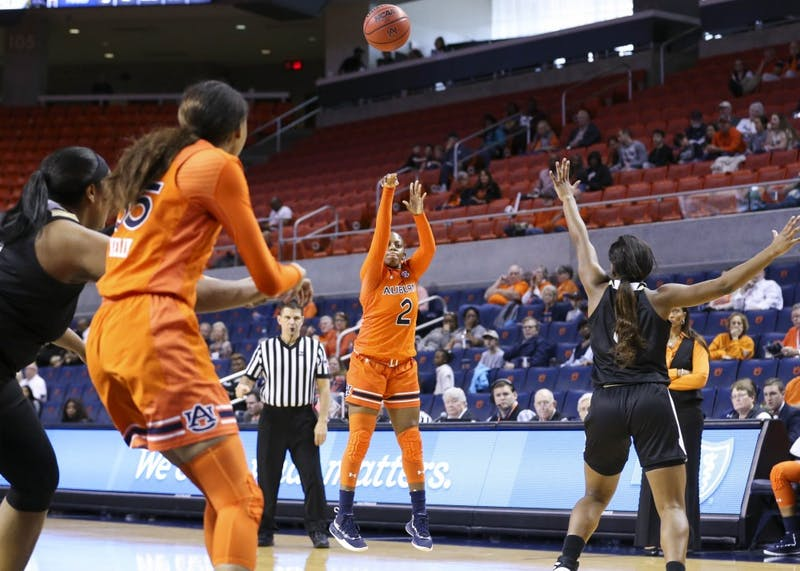 Brooke Moore (2) Women's Basketball vs Alabama State on Saturday, Dec. 29, 2018, in Auburn, Ala.