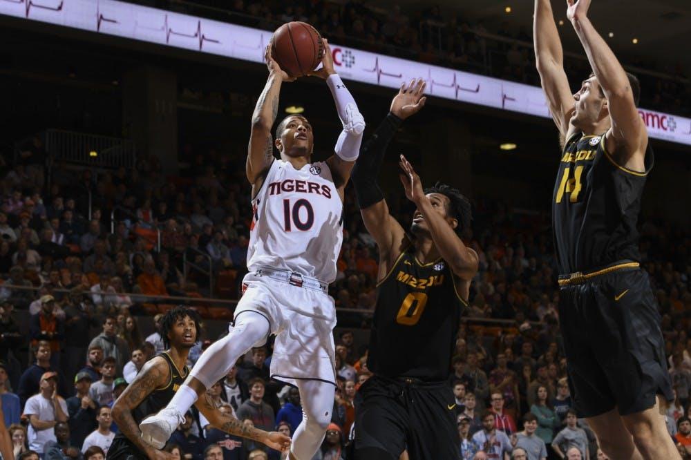 Samir Doughty (10)Auburn men's basketball vs Missouri on Wednesday, January 30, 2019, in Auburn, Ala. Photo: Wade Rackley /Auburn Athletics