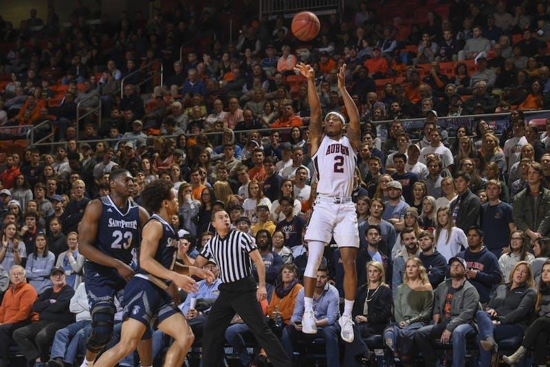 Bryce Brown (2)Auburn men's basketball vs Saint Peter's on Wednesday, November 28, 2018, in Auburn, Ala. Photo: Wade Rackley /Auburn Athletics