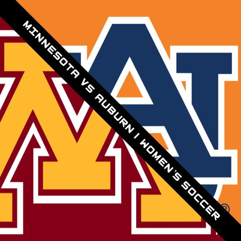 Minnesota vs Auburn in the 1st Round of the Women's College Soccer NCAA Tournament