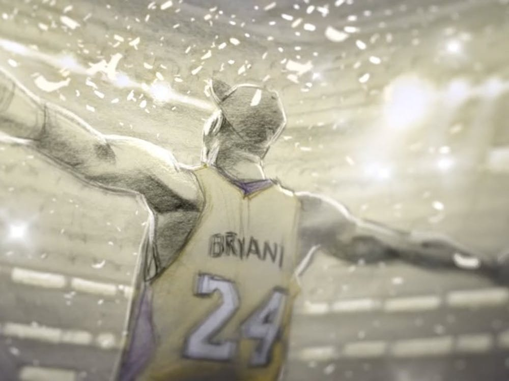 Kobe celebrates after titleProduced by: Believe Entertainment Group,                         Kobe Inc. &                         Glen Keane Productions