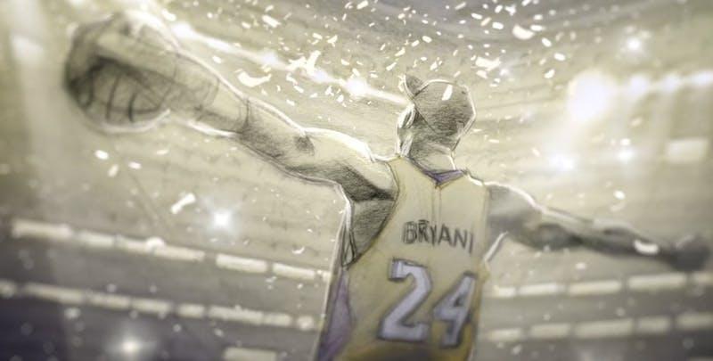 Kobe celebrates after titleProduced by: Believe Entertainment Group,                         Kobe Inc. &                         Glen Keane Productions