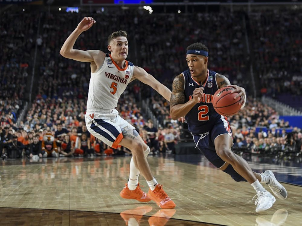 Bryce Brown Auburn men's basketball vs Virginia during semifinals of the Final Four on Saturday, April 6, 2019, in Minneapolis, Minn.