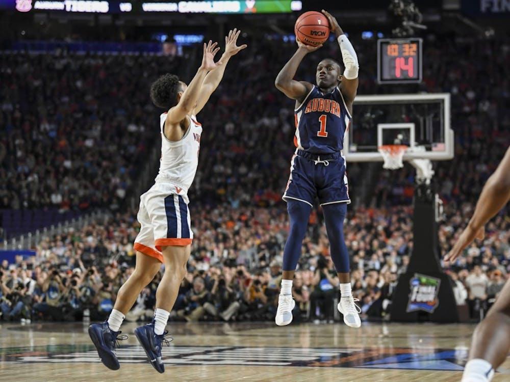 Jared Harper Auburn men's basketball vs Virginia during semifinals of the Final Four on Saturday, April 6, 2019, in Minneapolis, Minn.