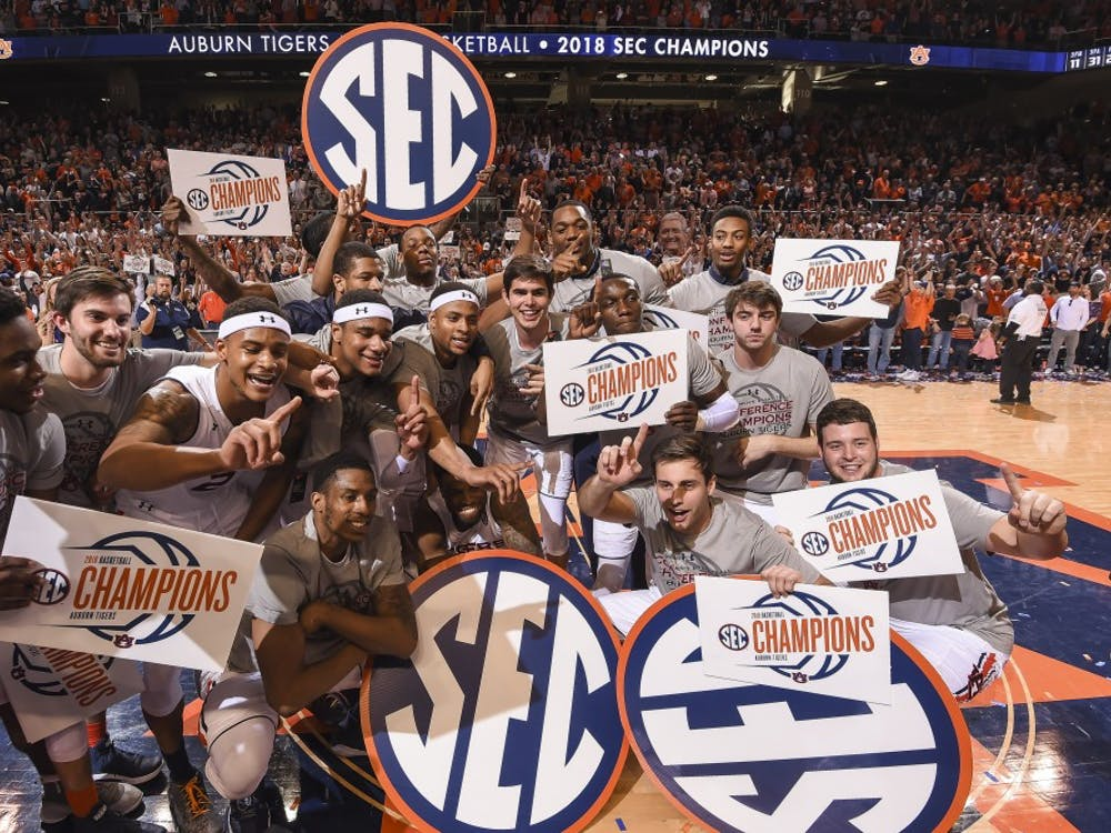 Auburn celebrates their SEC Championship | From Auburn Athletics