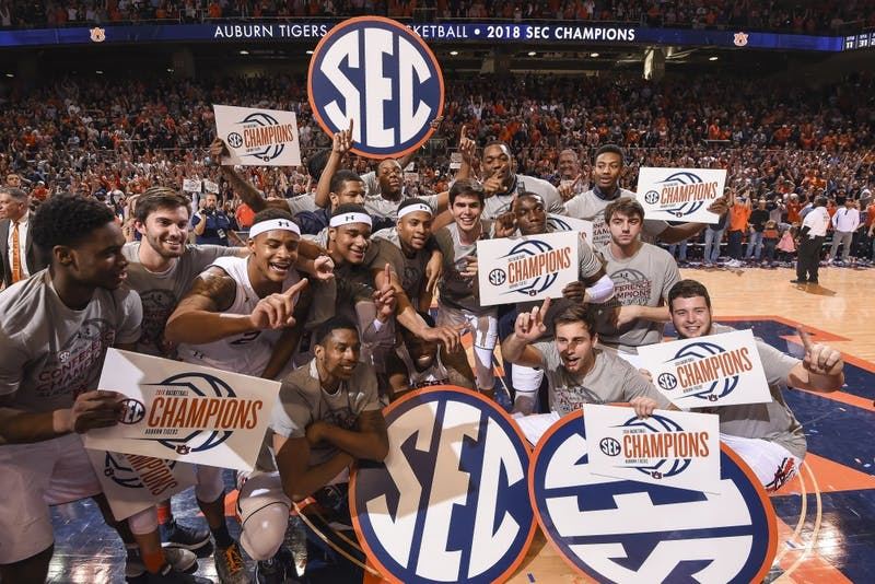 Auburn celebrates their SEC Championship | From Auburn Athletics