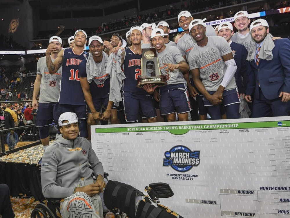 Auburn Men's Basketball Team Auburn men's basketball vs Kentucky during the NCAA Midwest Regional final on Sunday, March 31, 2019, in Kansas City, Mo.