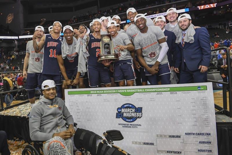 Auburn Men's Basketball Team Auburn men's basketball vs Kentucky during the NCAA Midwest Regional final on Sunday, March 31, 2019, in Kansas City, Mo.