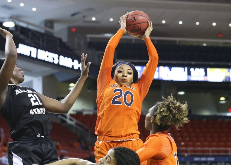 Unique Thompson (20) Women's Basketball vs Alabama State on Saturday, Dec. 29, 2018, in Auburn, Ala.