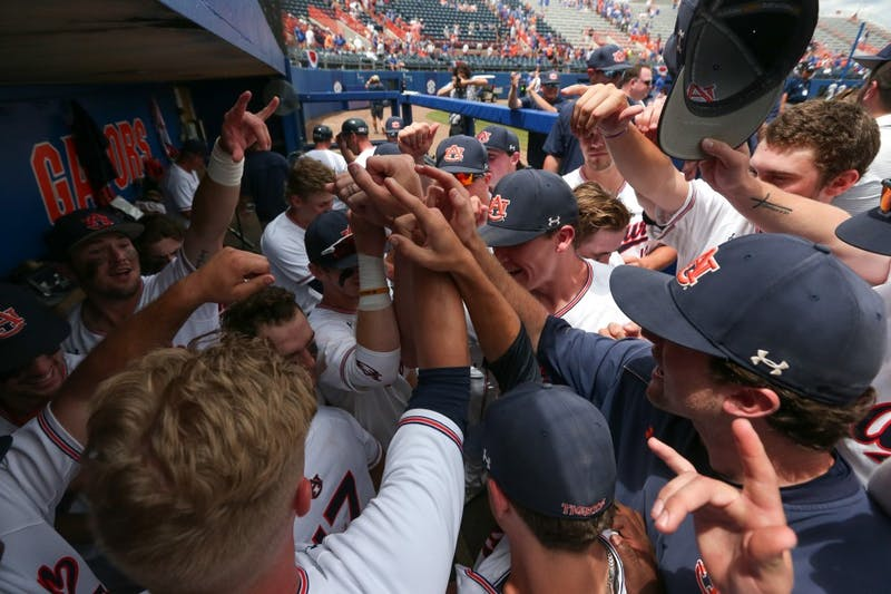 Auburn Tigers vs. Florida Gators in Game 2 of the Super Regional at Alfred A. McKethan Stadium in Gainesville, Fla. on Sunday, June 10, 2018. Zach Bland/Auburn Athletics