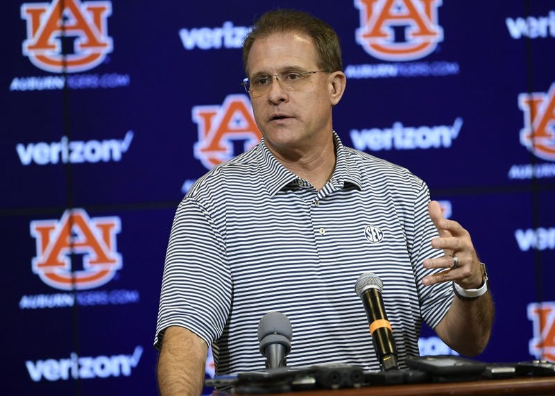 Coach Gus Malzahn Auburn Tuesday presser on Tuesday, Oct. 9, 2018 in Auburn, Ala. Todd Van Emst/AU Athletics