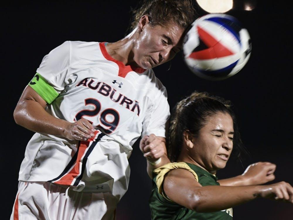 Gianna Montini (29) Auburn Soccer vs UAB on Friday, Aug. 24, 2018, in Auburn, Ala. Cat Wofford/Auburn Athletics
