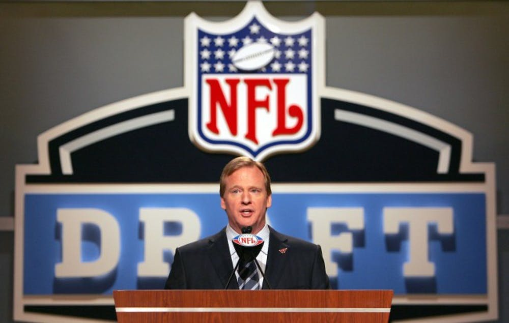 <p>NFL Commissioner Roger Goodell during the NFL draft at Radio City Music Hall in New York, NY on Saturday, April 28, 2007. Photo courtesy of Getty Images.</p>