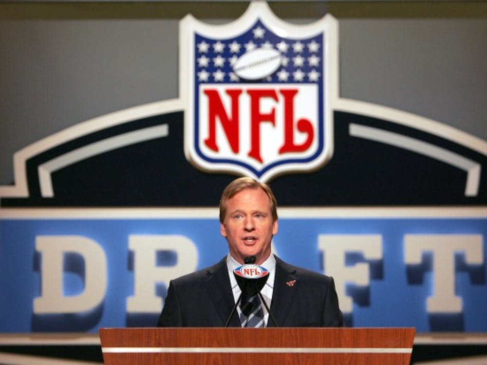 NFL Commissioner Roger Goodell during the NFL draft at Radio City Music Hall in New York, NY on Saturday, April 28, 2007. Photo courtesy of Getty Images.