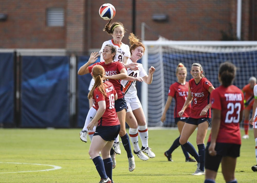 Jessie Gerow (9)Auburn Soccer vs Ole Miss on Sunday, September, 23, 2018, in Auburn, Ala. Cat Wofford/Photographer