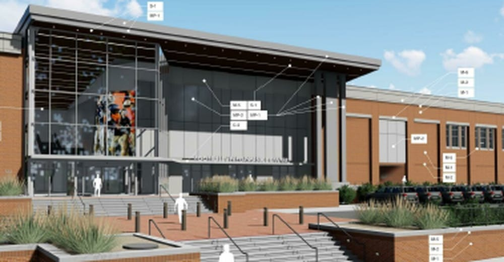 <p>A rendering of the new standalone football facility. (Image courtesy Auburn University)</p>