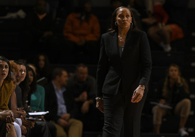 Auburn coach Terri Williams-Flournoy in the first half.