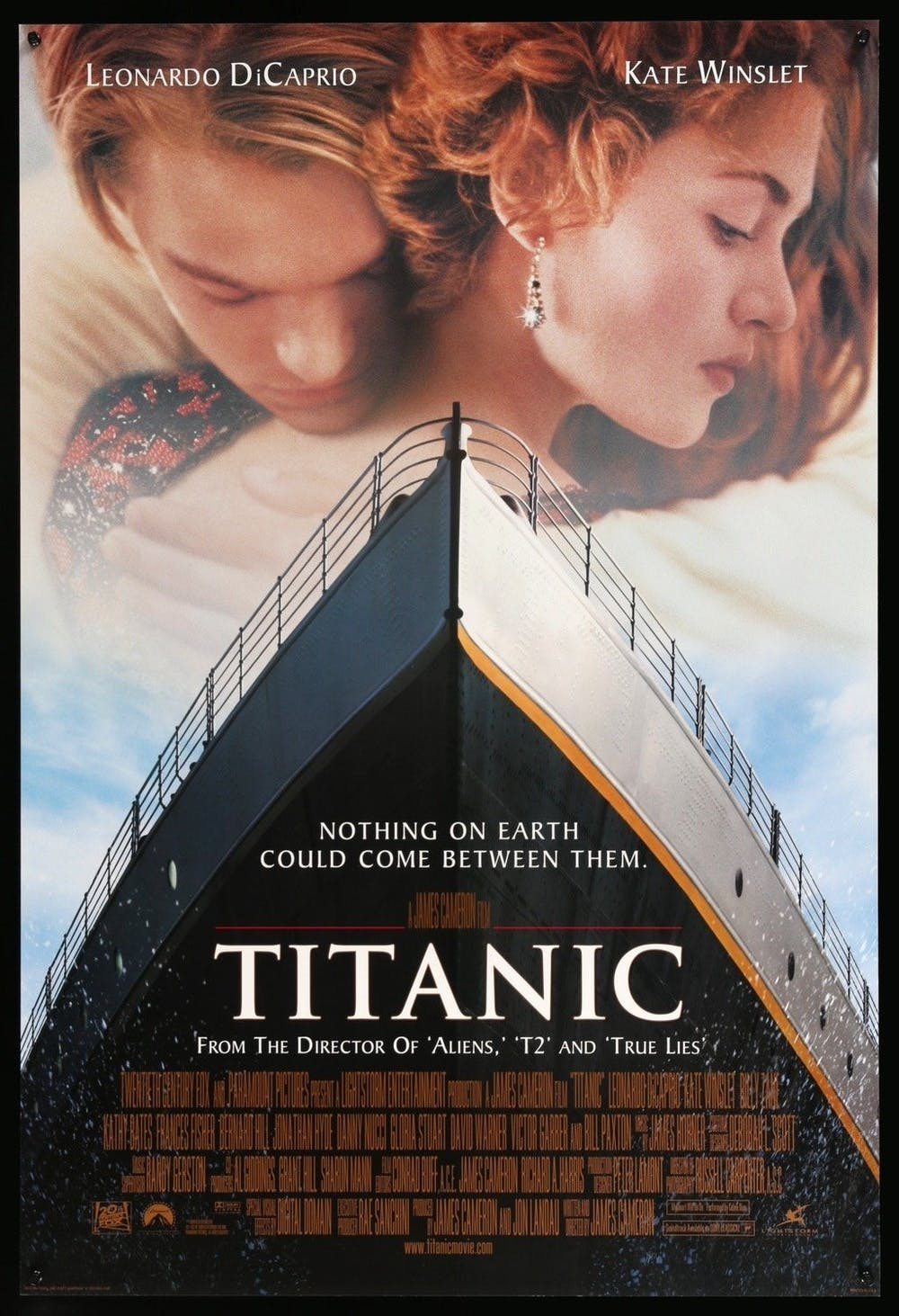 Cover for Titanic. From Titanic (1997), directed by James Cameron and released by 20th Century Fox/Paramount.