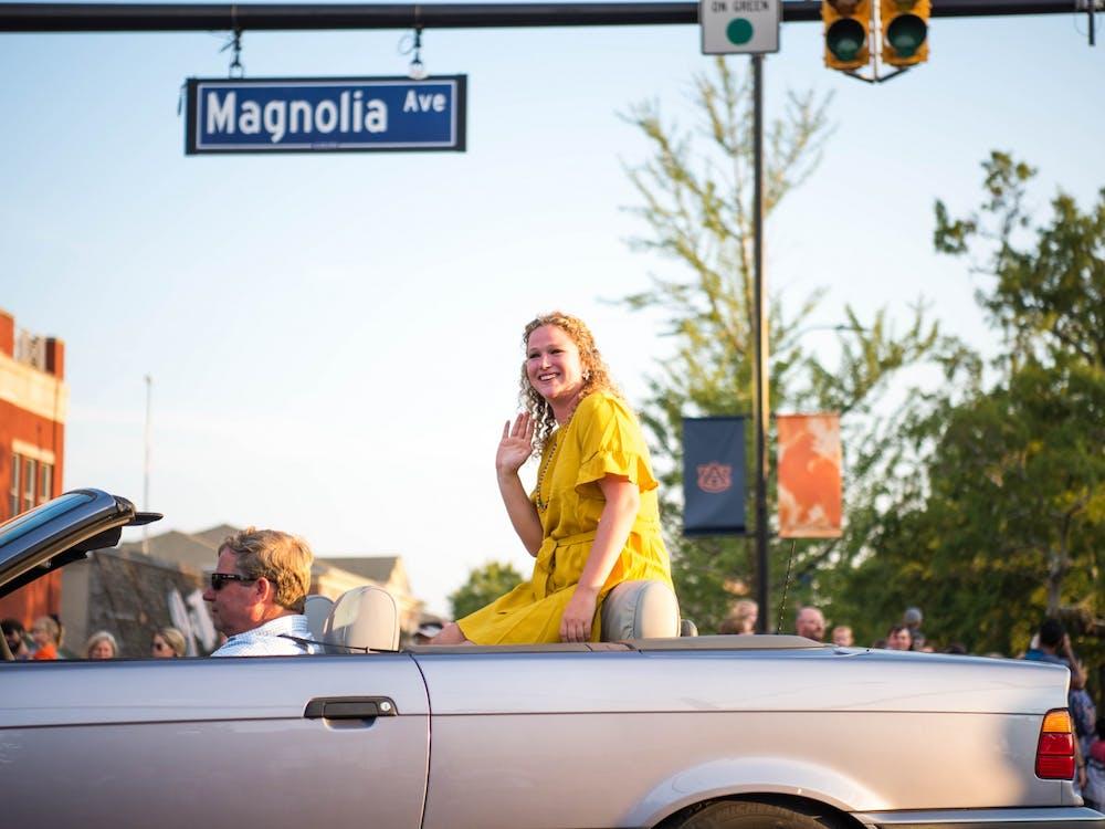 Miss Homecoming 2019 at the Homecoming Parade in 2019.