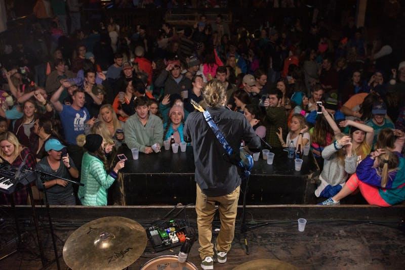 Students enjoy a concert downtown at Skybar. Benjamin Morgan