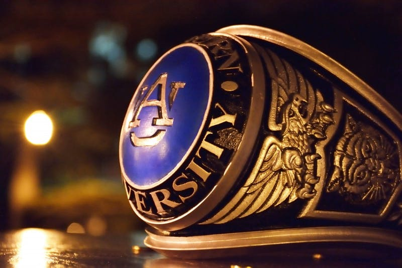 Auburn students receive class rings such as this at the biannual Ring Ceremony. Adam Brasher