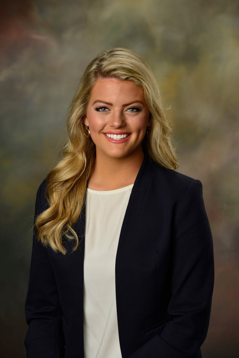Annie Ozment, junior in psychology, is running for SGA vice president.