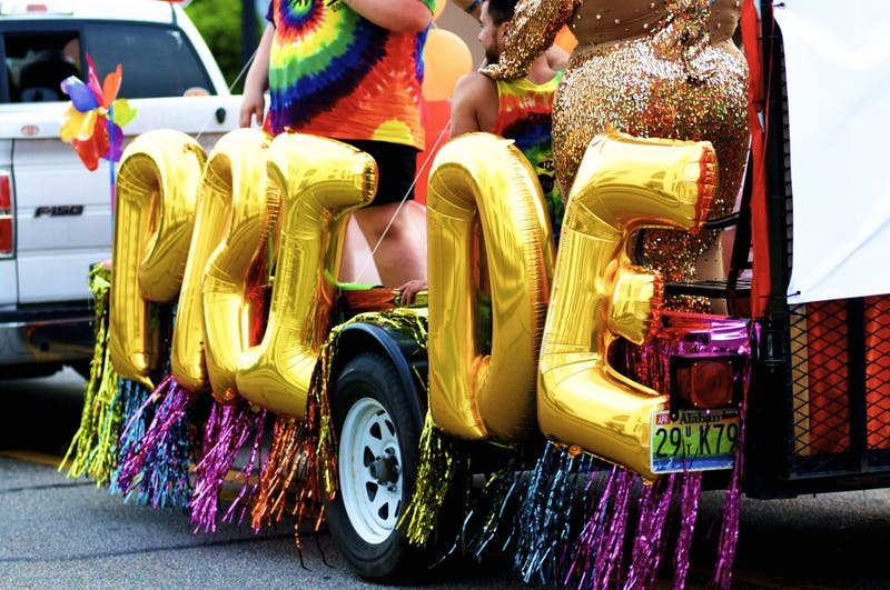 Members of the Auburn-Opelika community gather for Pride on The Plains on Friday, June 1, 2018 in Opelika, Ala.