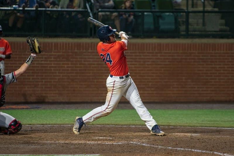 Conor Davis (24) swings for the ball during Auburn Baseball vs. Cincinnati on Saturday, March. 2, 2019, in Auburn, Ala.