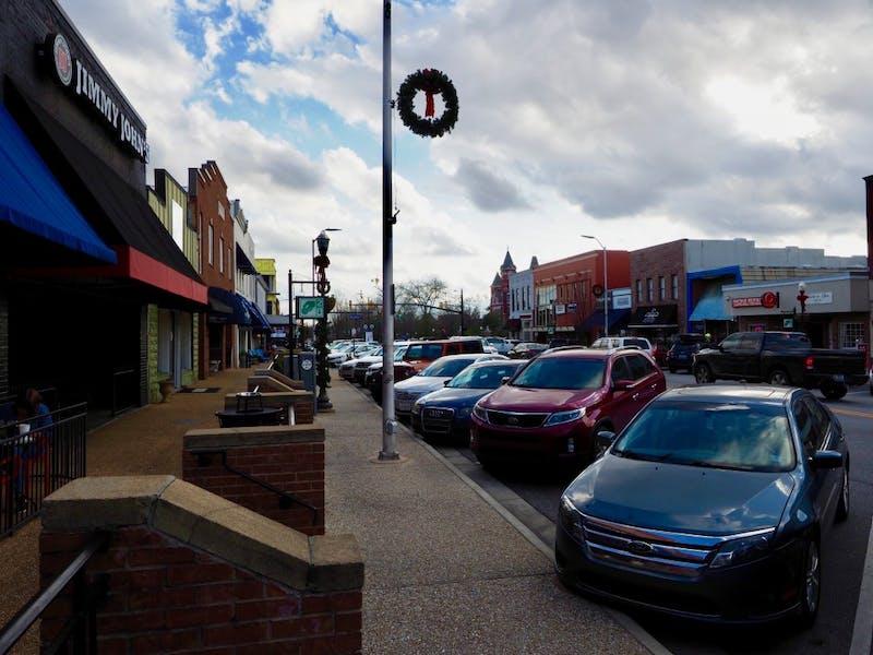 Downtown Auburn and Toomer's Corner on January 8, 2019 in Auburn Al