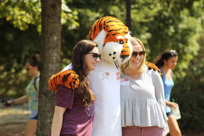 Students enjoying events during Hey Day on Wednesday, Oct. 2, 2019 in Auburn, Ala.