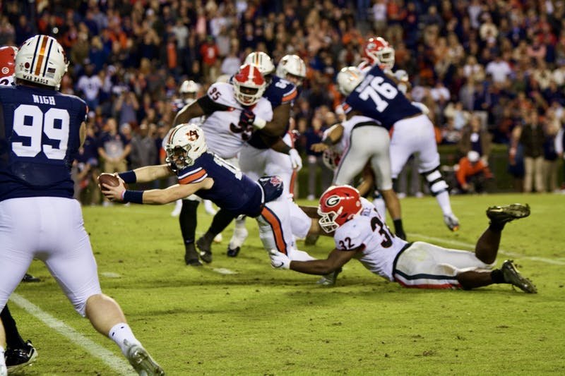 Bo Nix (10) during the Auburn vs. Georgia game on Saturday, Nov. 16, 2019, in Auburn, Ala.