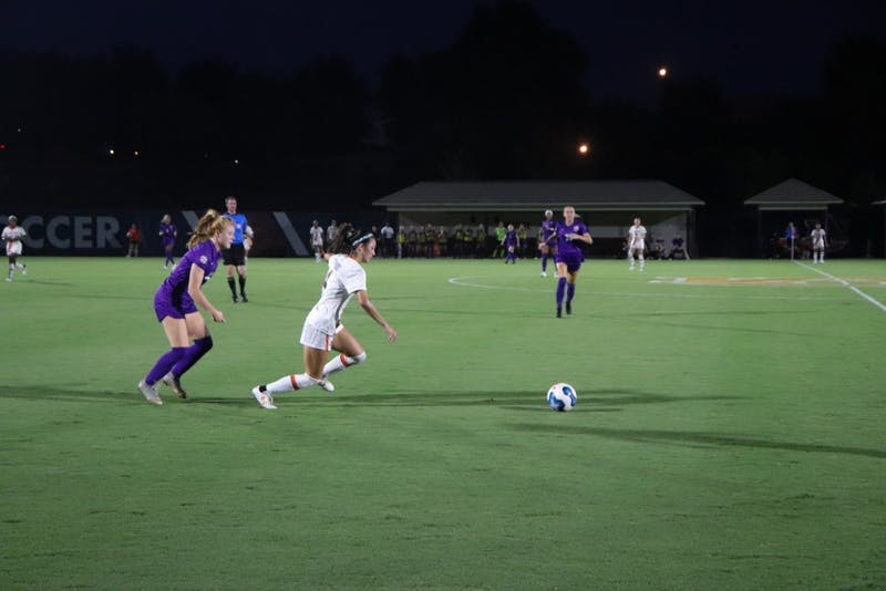 Sydney Richards (14) running after the ball at Auburn Soccer vs. LSU on Oct. 3, 2019, in Auburn, Ala.