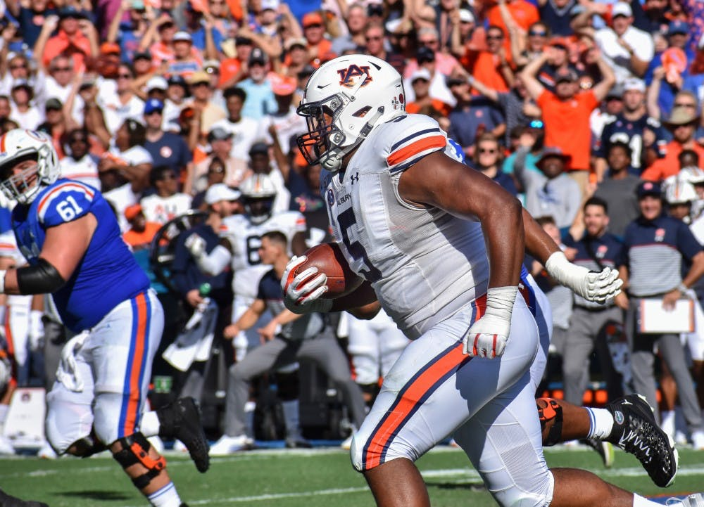 Derrick Brown named SEC Defensive Lineman of the Week for second time this season