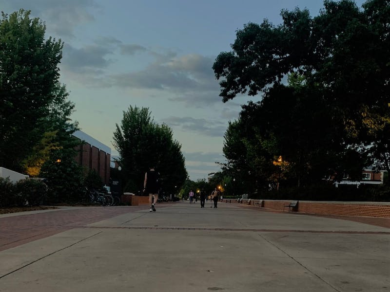 The Haley Concourse in the evening.