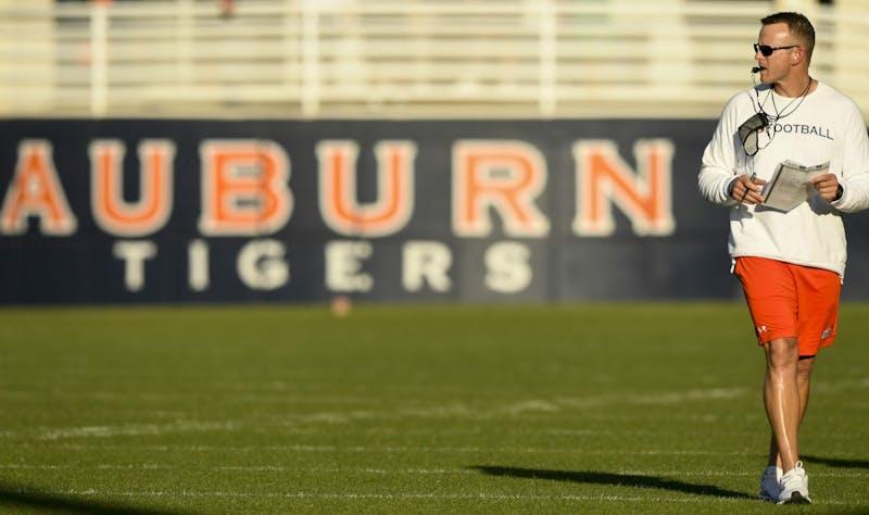 Coach Bryan HarsinAuburn practice on Monday, April 12, 2021 in Auburn, Ala.Todd Van Emst/AU Athletics