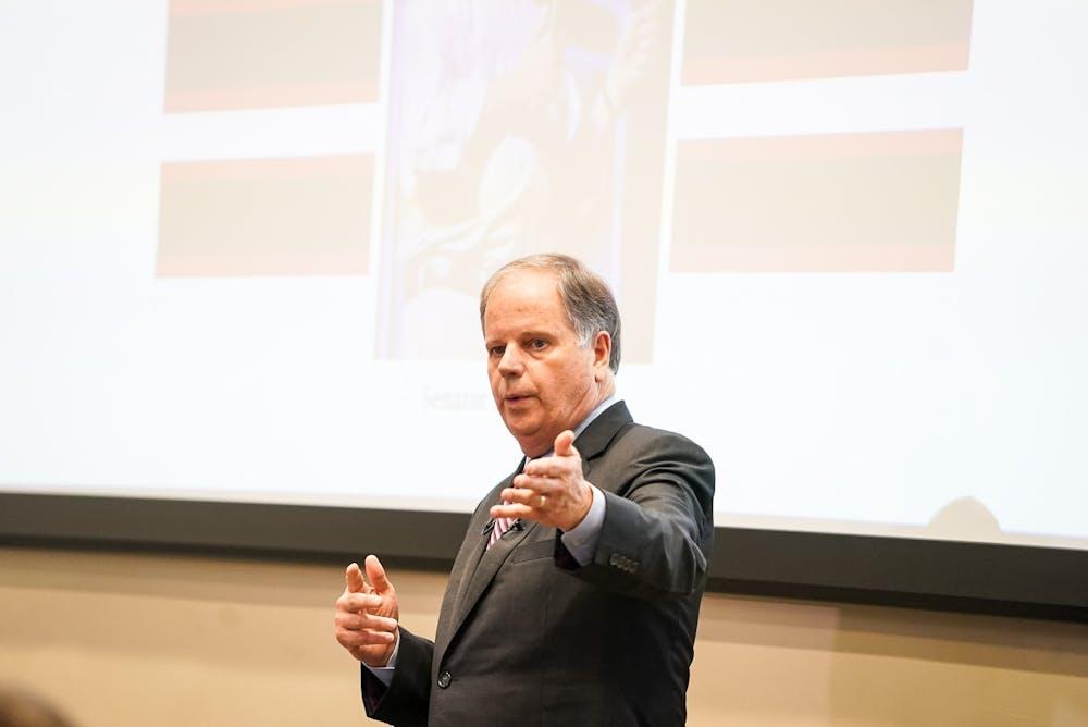 Sen. Doug Jones takes on student inquiries in open forum