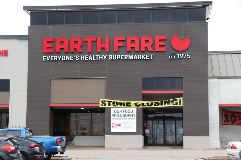 Earth Fare, across from the Auburn Mall, is to be closing soon. Photo was taken on Feb. 11, 2020, in Auburn, Ala.