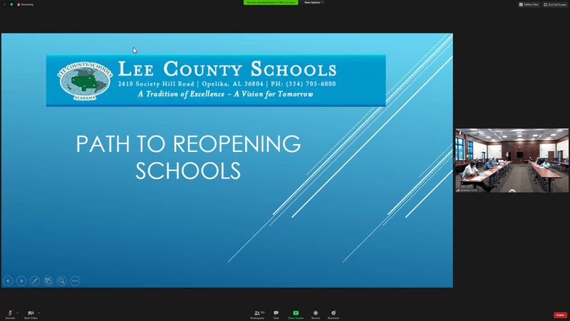 Lee County School Board met over Zoom on July 14 to discuss their path to reopening schools.