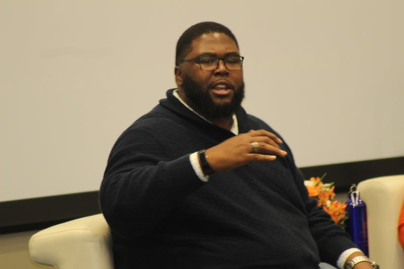 Anthony Jack speaking during Auburn University's critical conversation series on Nov 7, 2019, in Auburn, Ala.