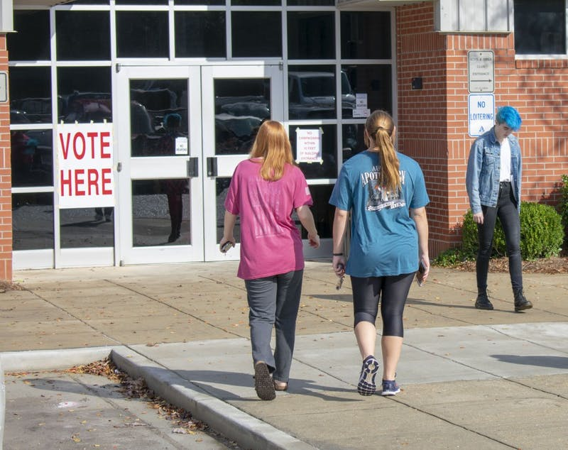 Voters head to the polls on Tuesday, Nov. 6, 2018 in Auburn, Ala.