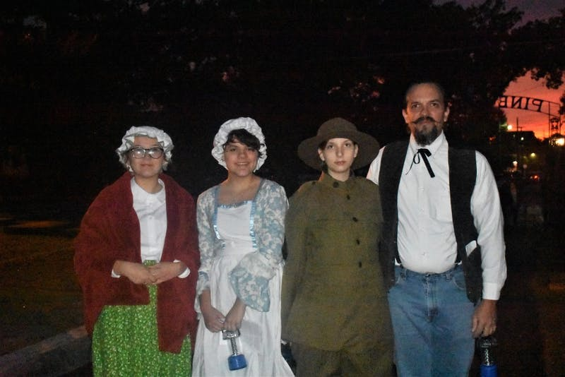 Members of the reenactment at the Pine Hill Cemetery in Auburn, Ala.