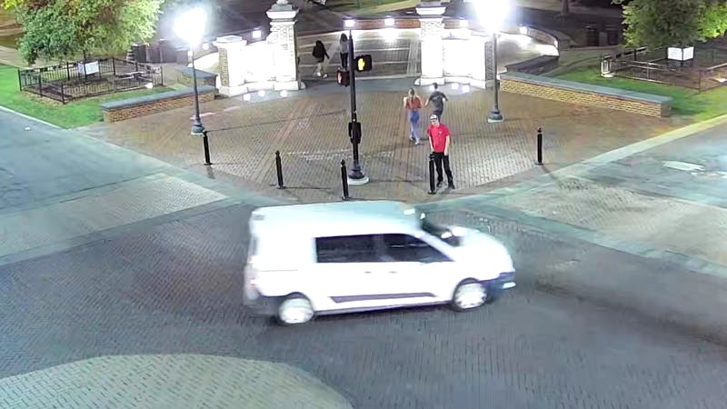 Four women reported suspicious incidents involving the driver of this white van, which appears to be a white Ford Transit Connect.