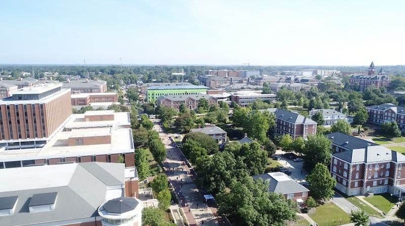 Auburn's campus from the south on Wednesday, Aug. 22, 2018.
